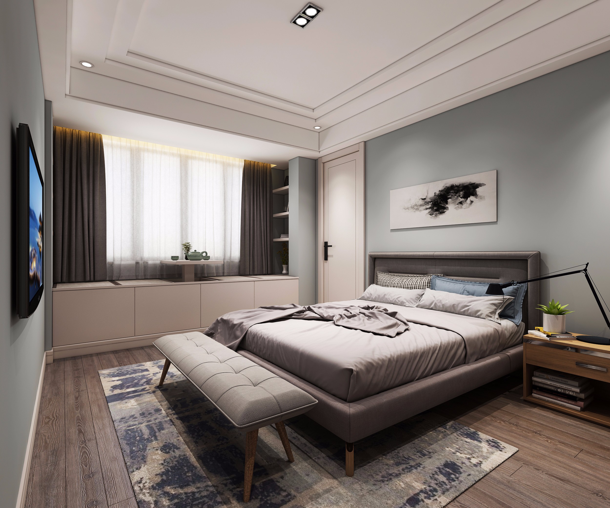 北欧卧室 - 效果图交流区-建e室内设计网图片
