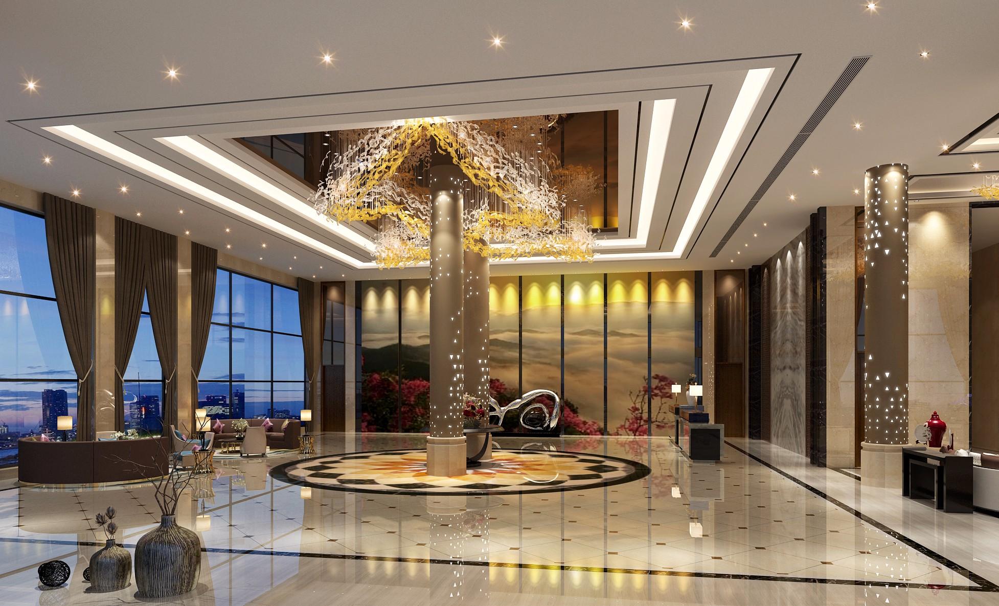 酒店大堂 - 效果图交流区-建e室内设计网