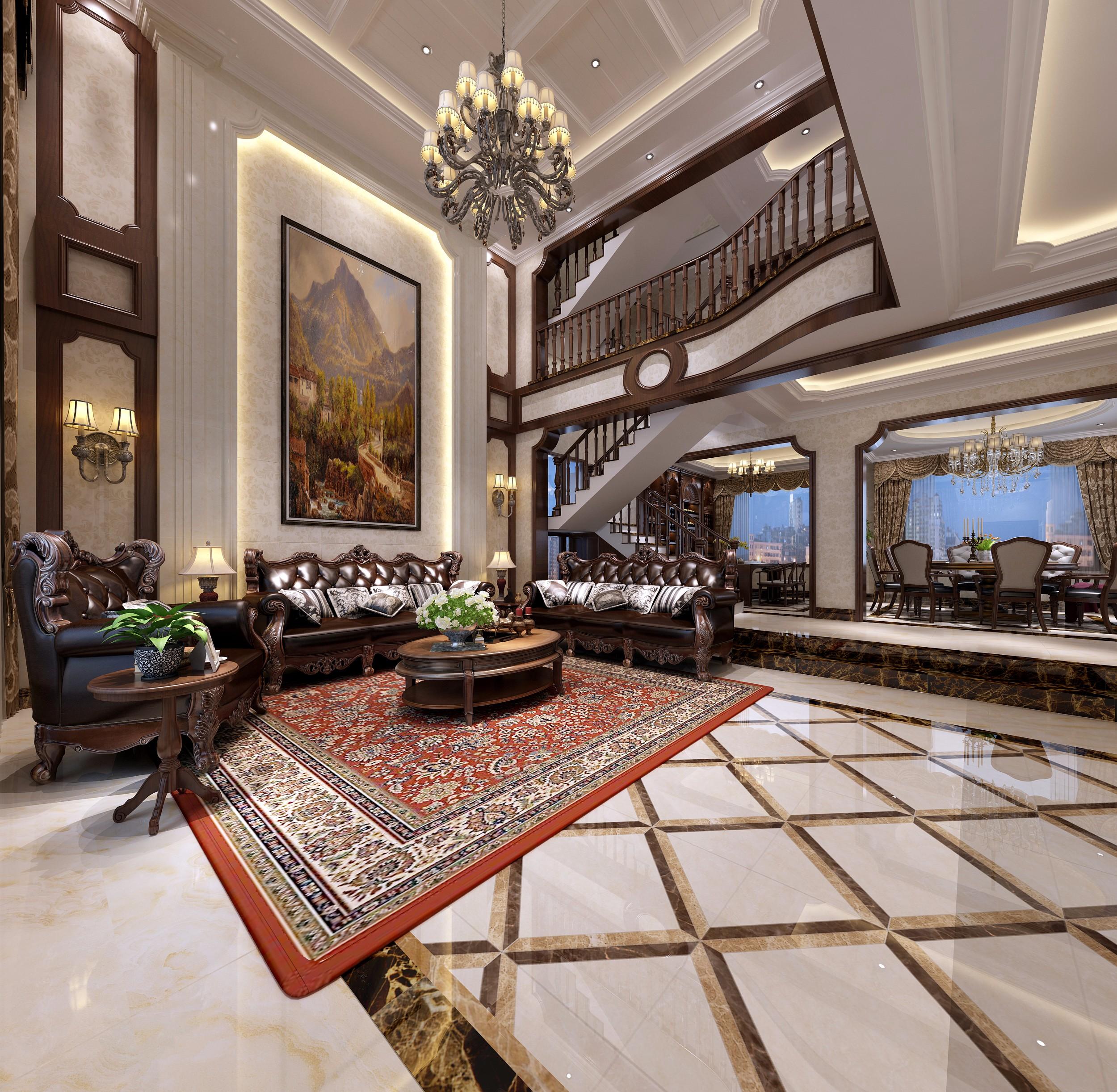 欧式别墅客餐厅 - 效果图作品交流区 - 建e分享交流