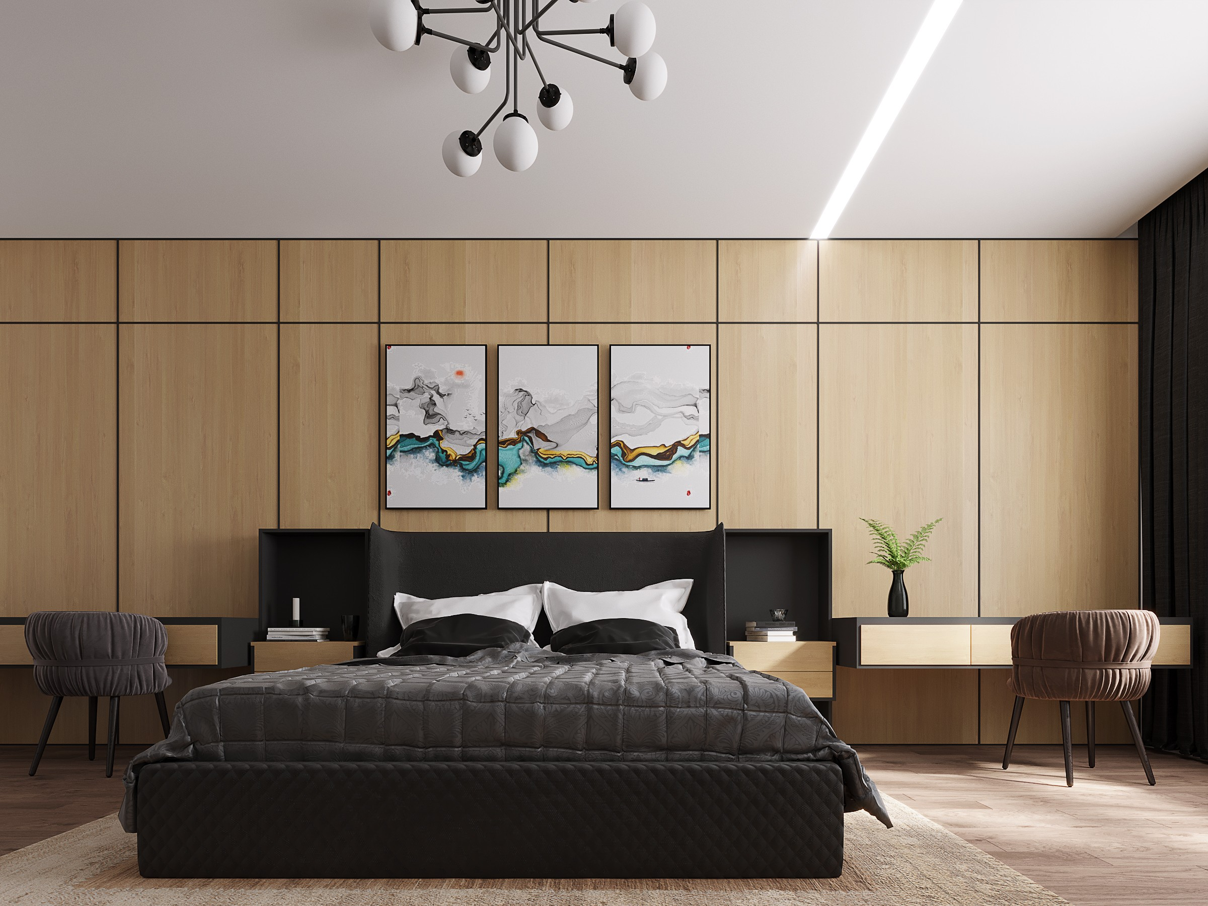 临摹卧室 - 效果图交流区-建e室内设计网