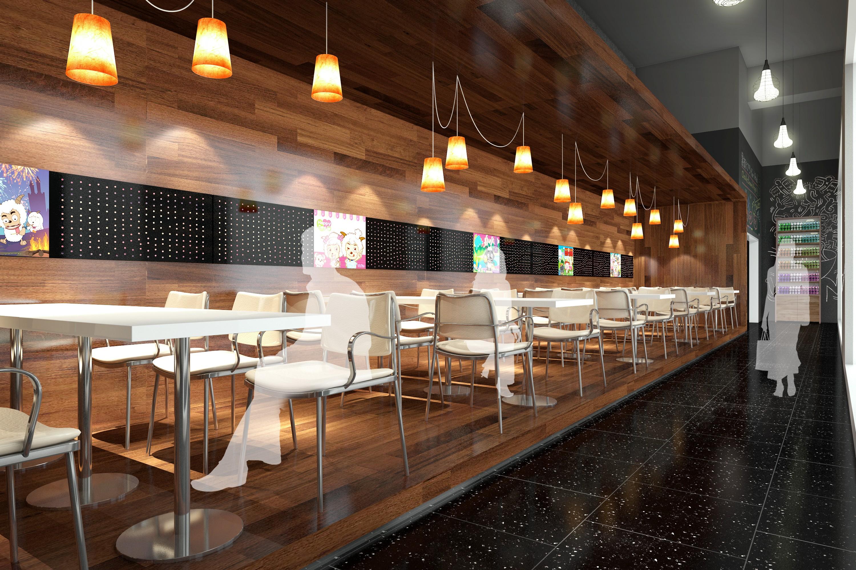 台湾某地下美食城 - 效果图交流区-建e室内设计网