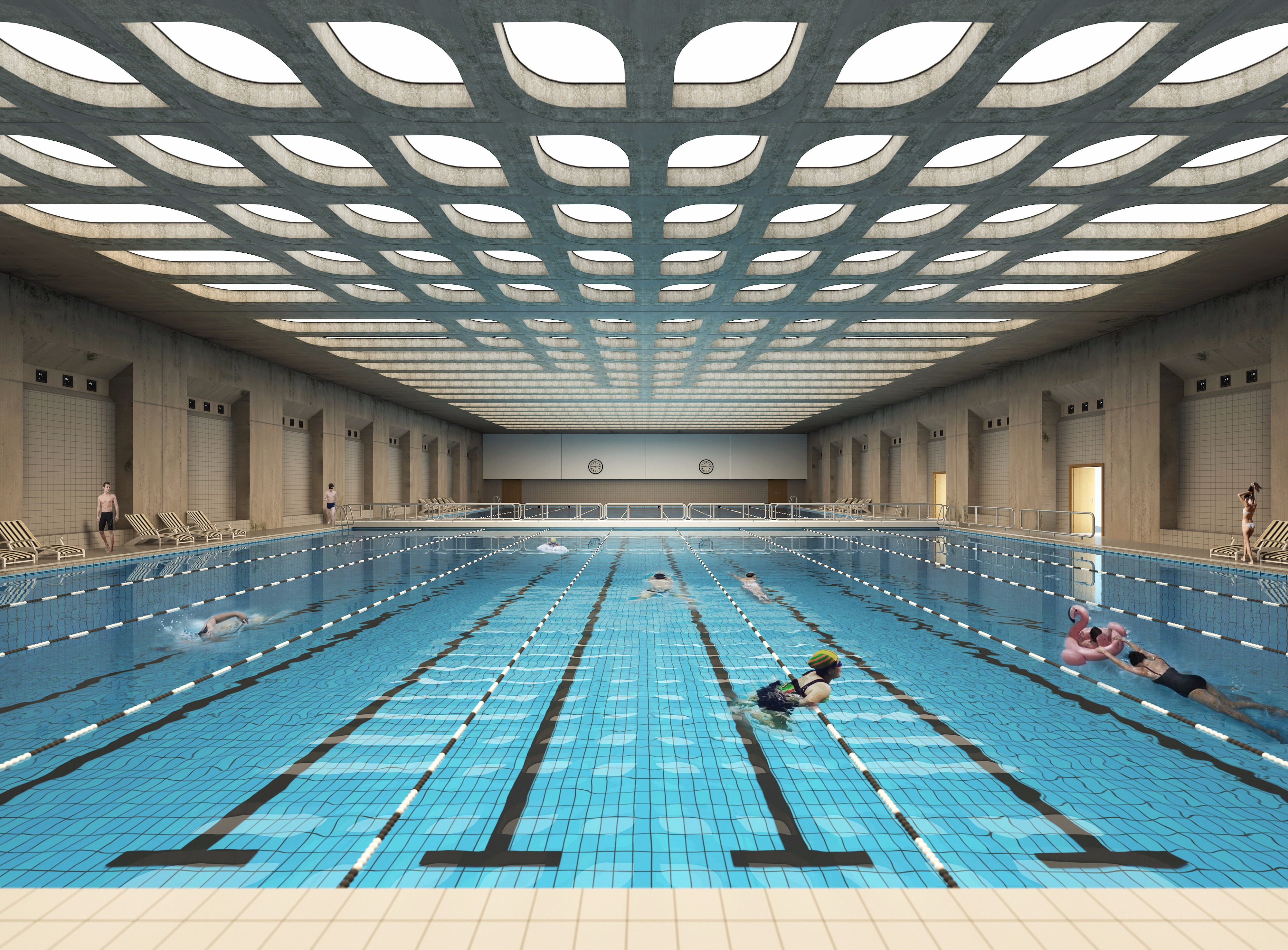 伦敦游泳馆局部临摹 - 效果图交流区-建e室内设计网