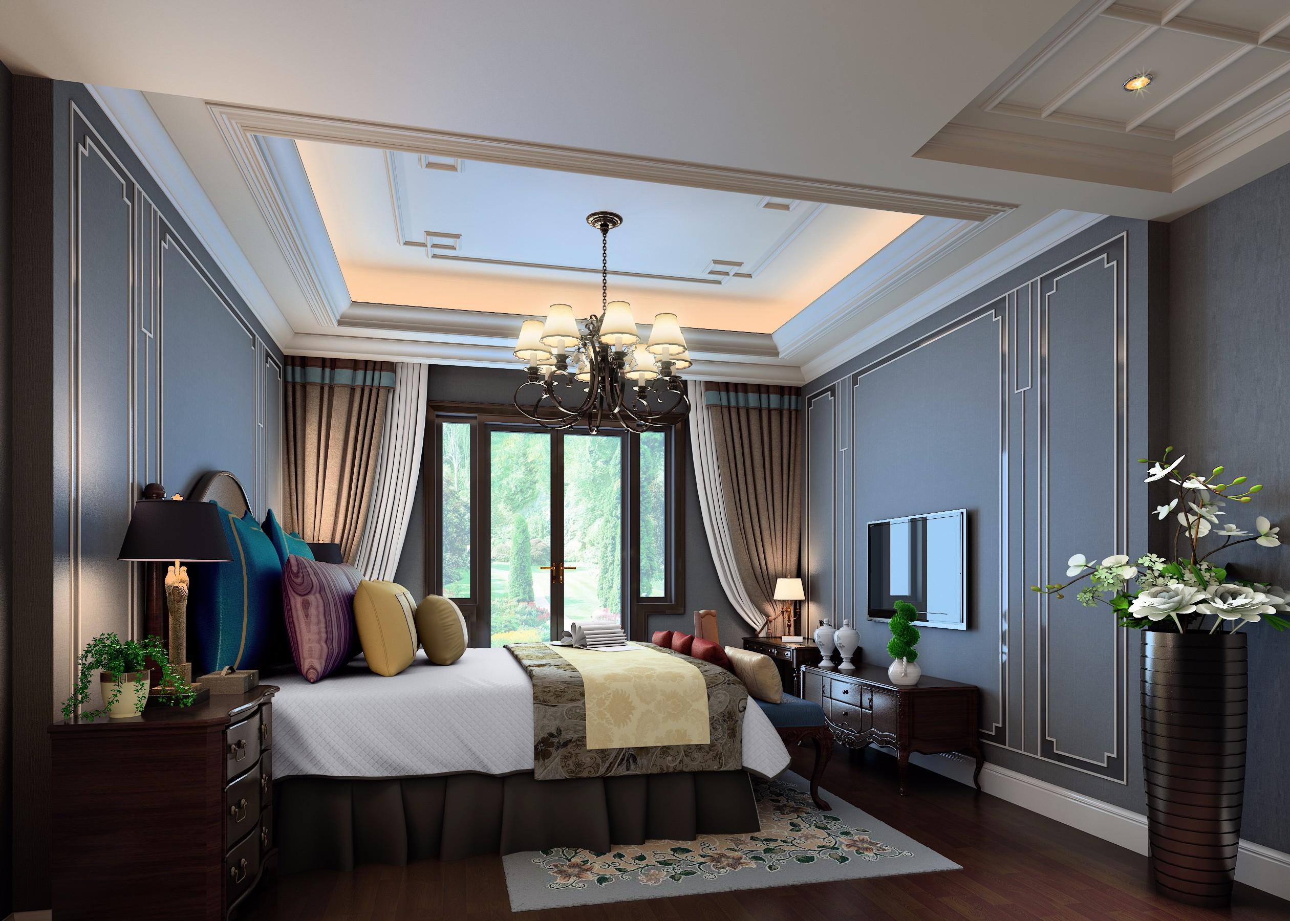 奢华 简欧 新中式 卧室 - 效果图交流区-建e室内设计网