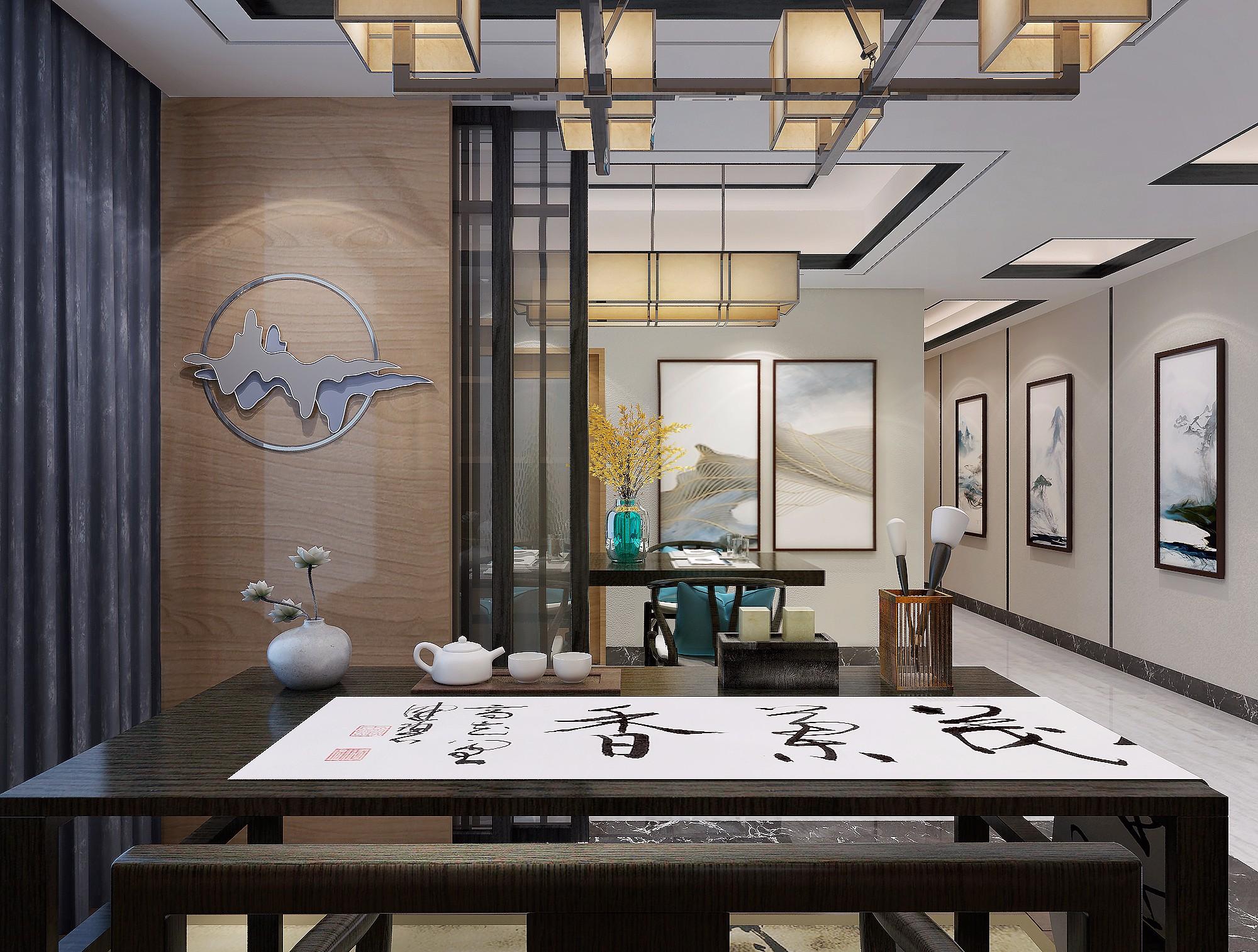 新中式 - 效果图交流区-建e室内设计网