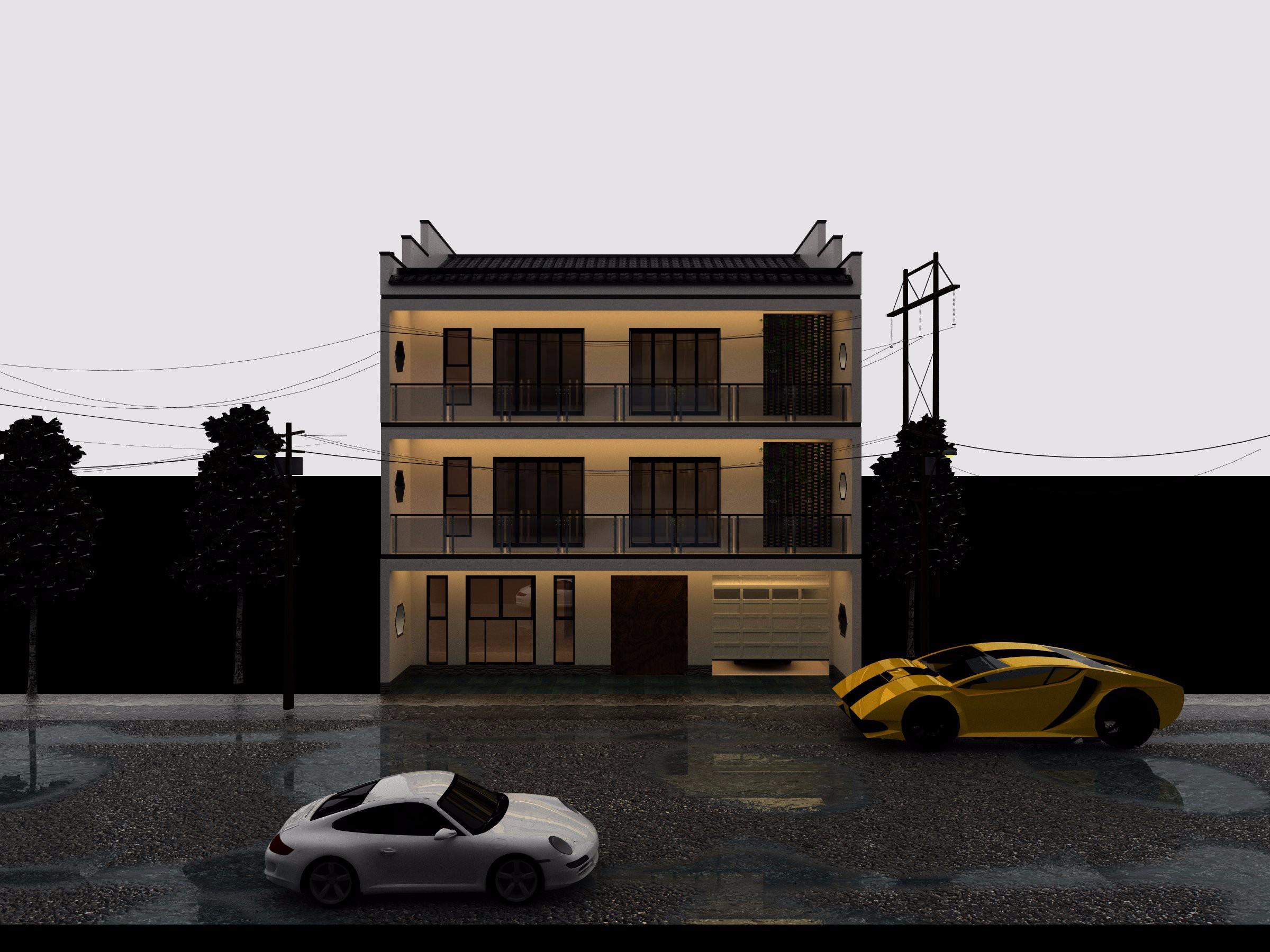建设新农村-新中式别墅设计图片