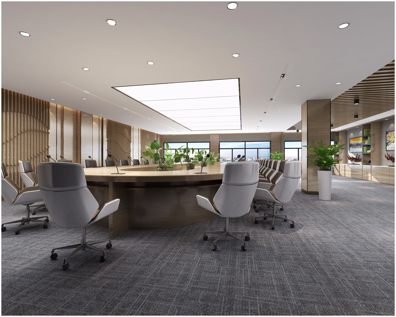 现代风格办公室会议室 - 效果图交流区-建e室内设计网