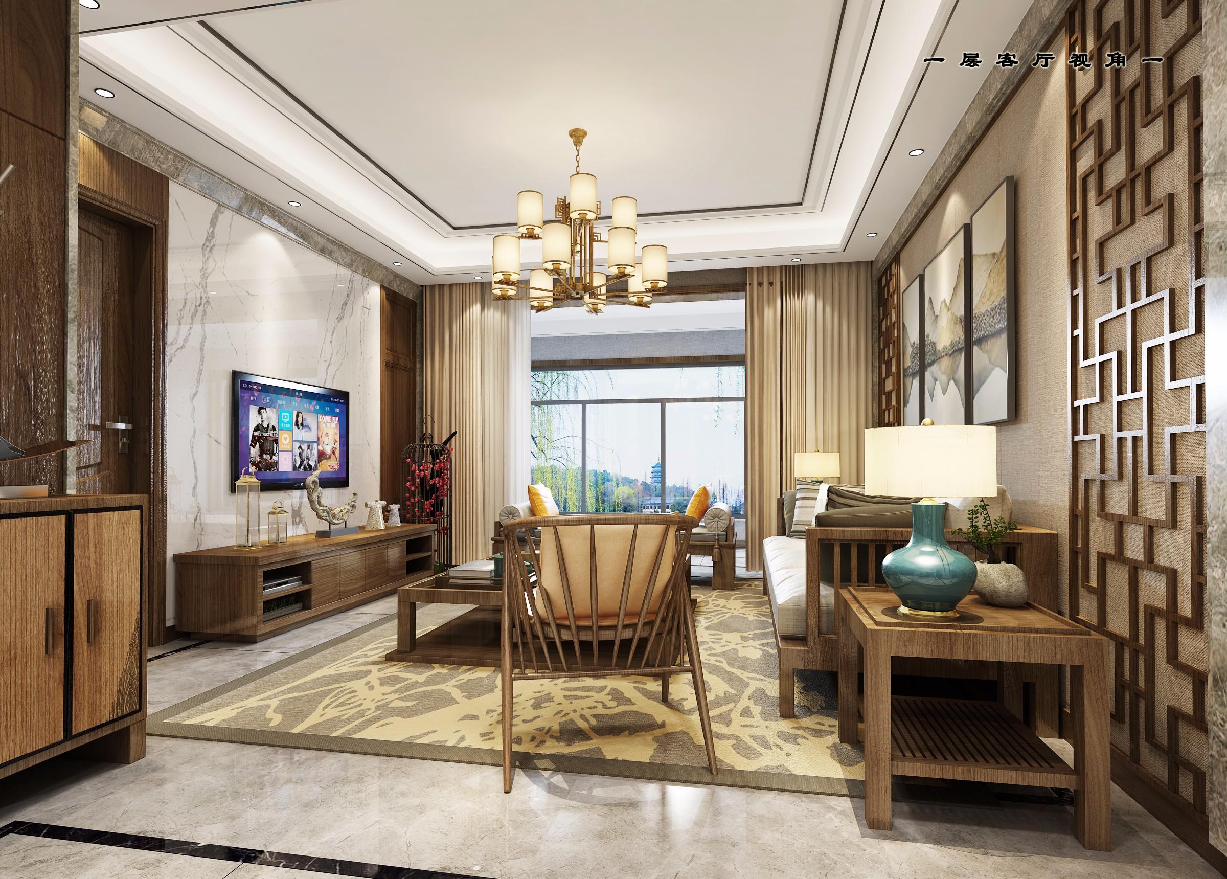 新中式家装 - 效果图交流区-建e室内设计网