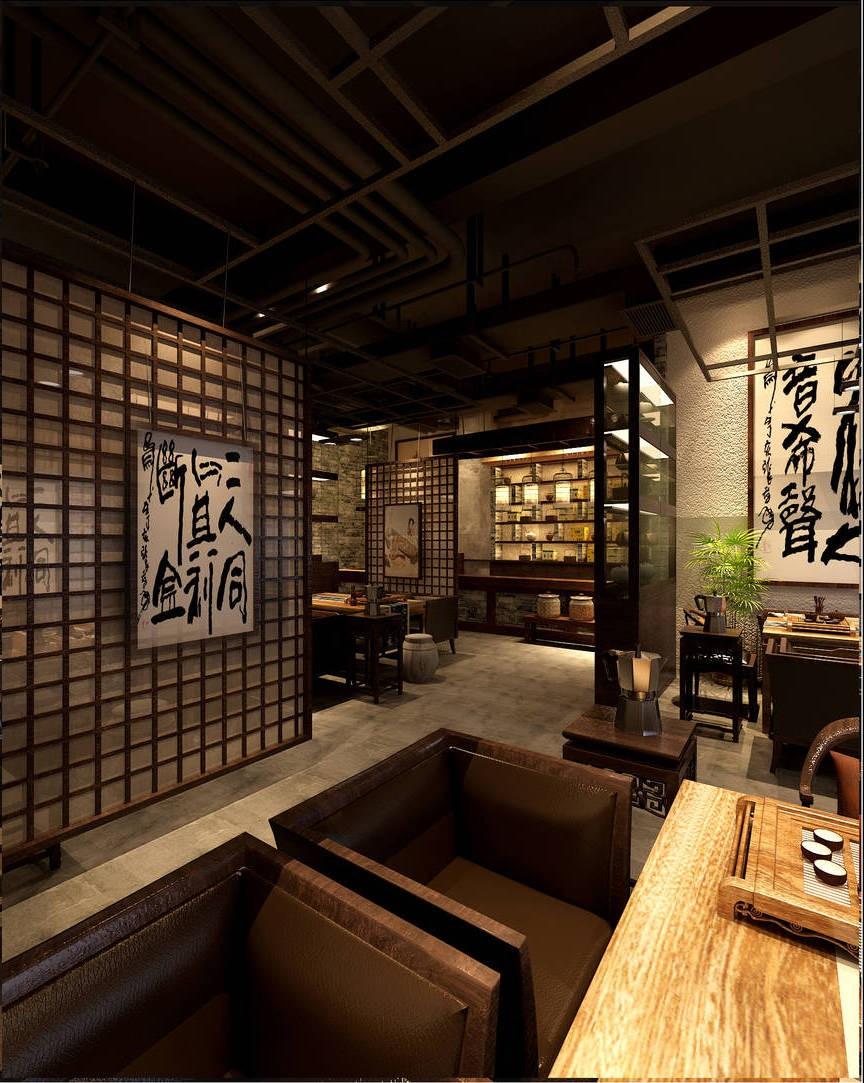 设计说明: 我们定位环境风格为现代禅风,拉开和传统中式欧式茶楼在