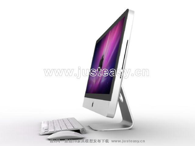 苹果电脑键盘鼠标3d模型下载[id:64289]_建e网模型-3d