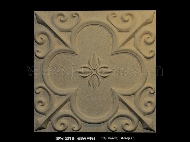 欧式砂岩浮雕雕花板3d模型下载[id:75847]