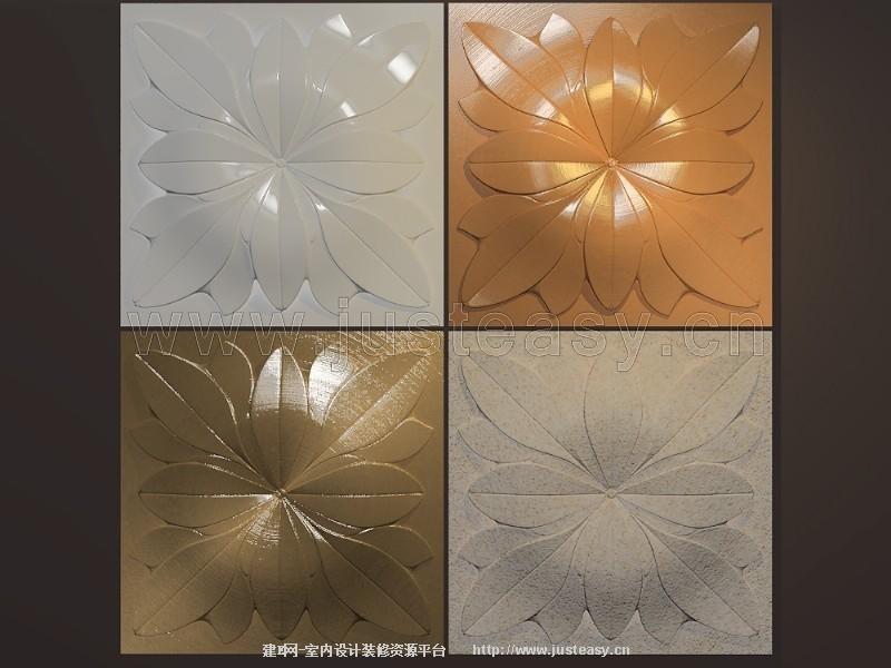 欧式浮雕雕花板3d模型下载[id:75978]