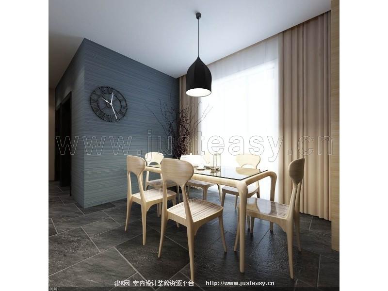现代欧式简约客餐厅3d模型下载[id:76311]