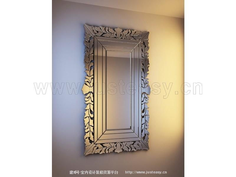 欧式雕花镜子3d模型下载[id:77014]_建e网模型下载-3d图片