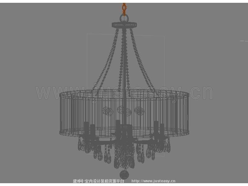 欧式水晶吊灯3d模型下载[id:77694]