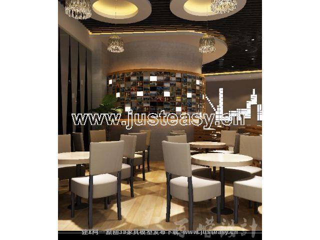 欧式现代简约商业餐厅