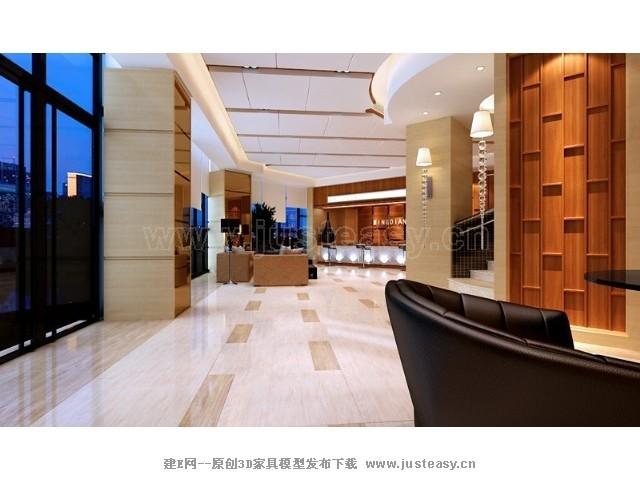 现代酒店大厅[模型id:72100]