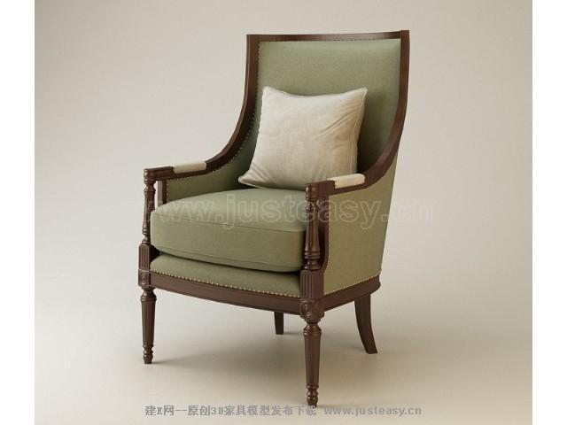 欧式休闲椅3d模型下载[id:72276]