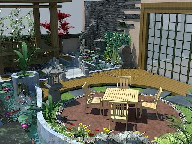 现代中式屋顶花园