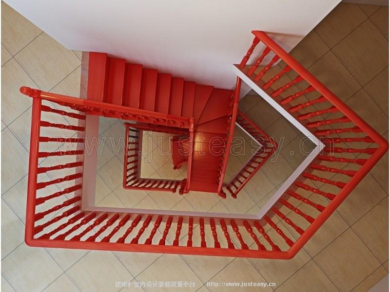 中式旋转楼梯栏杆[模型id:78120]