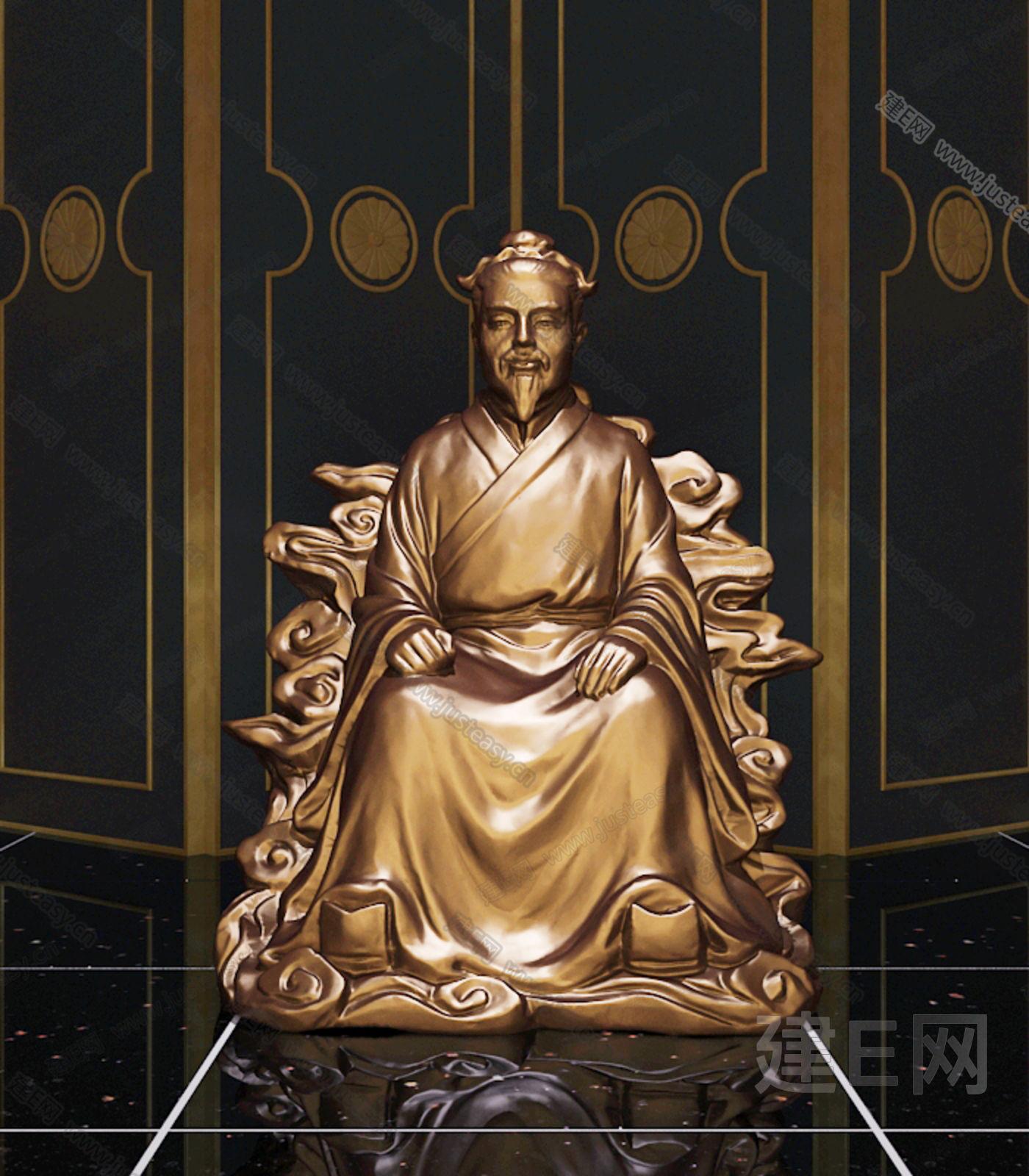 土地公人物雕像3d模型下载[id:116988]