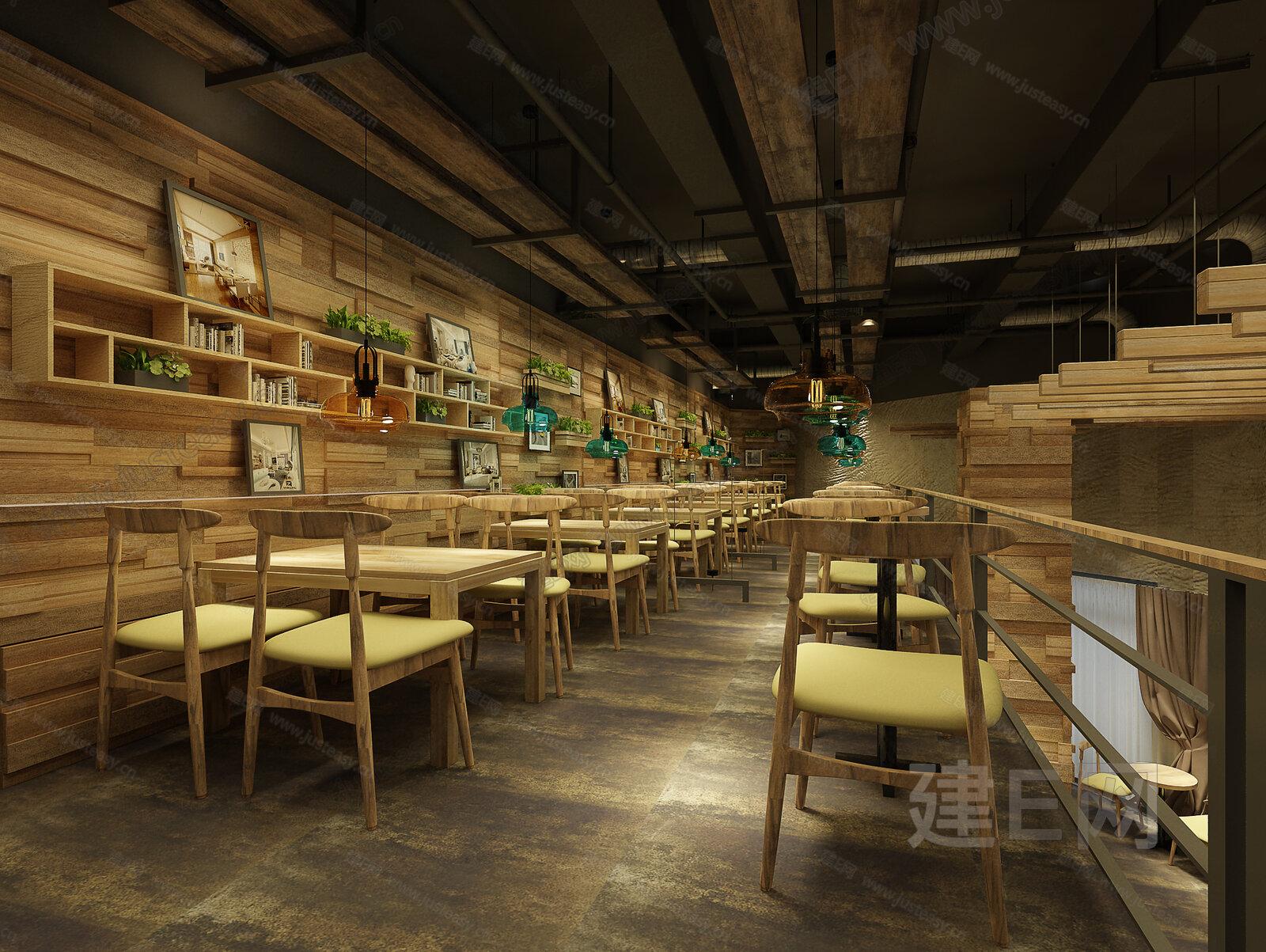 工业风咖啡店餐厅