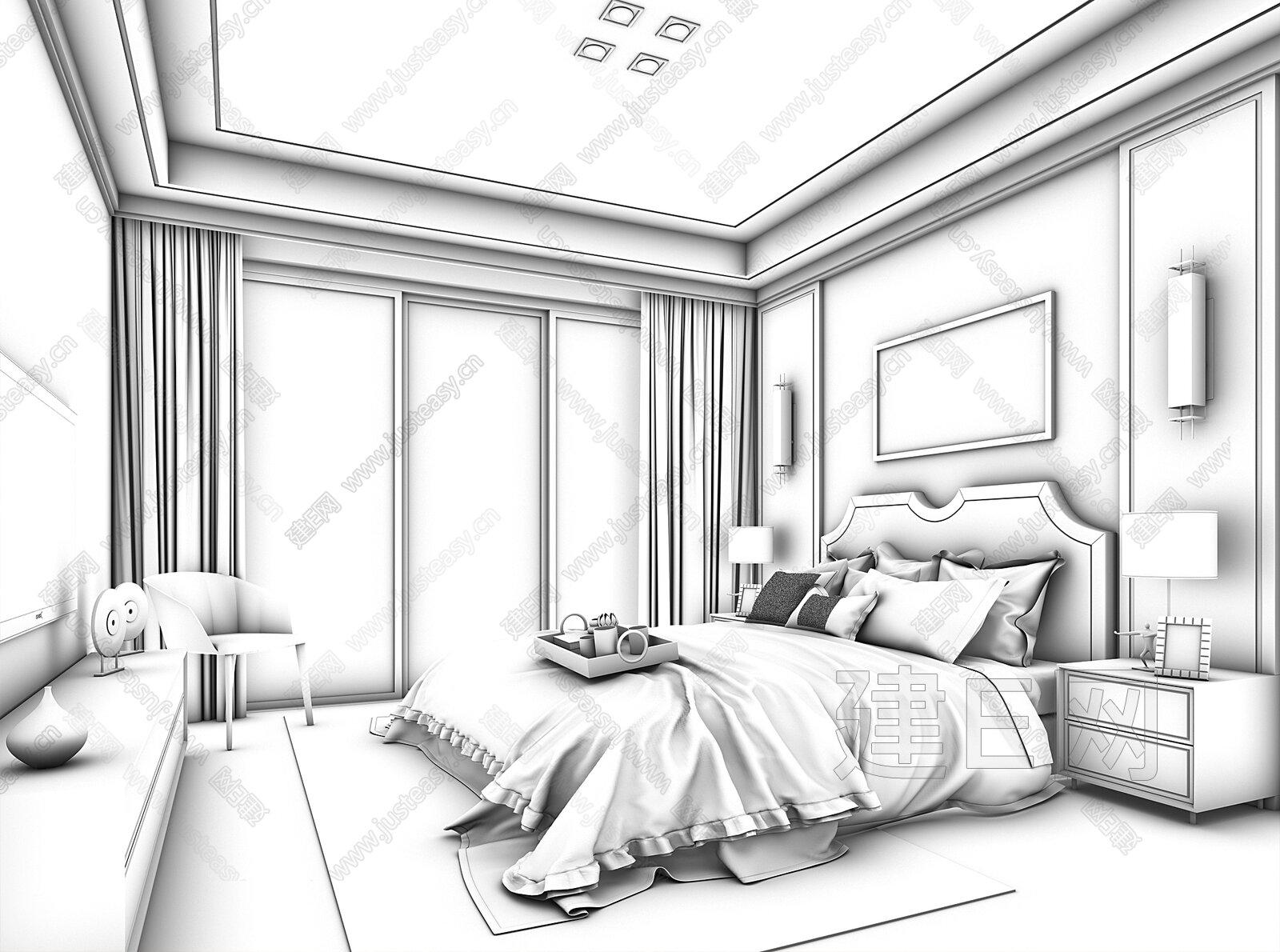 卧室怎么画步骤