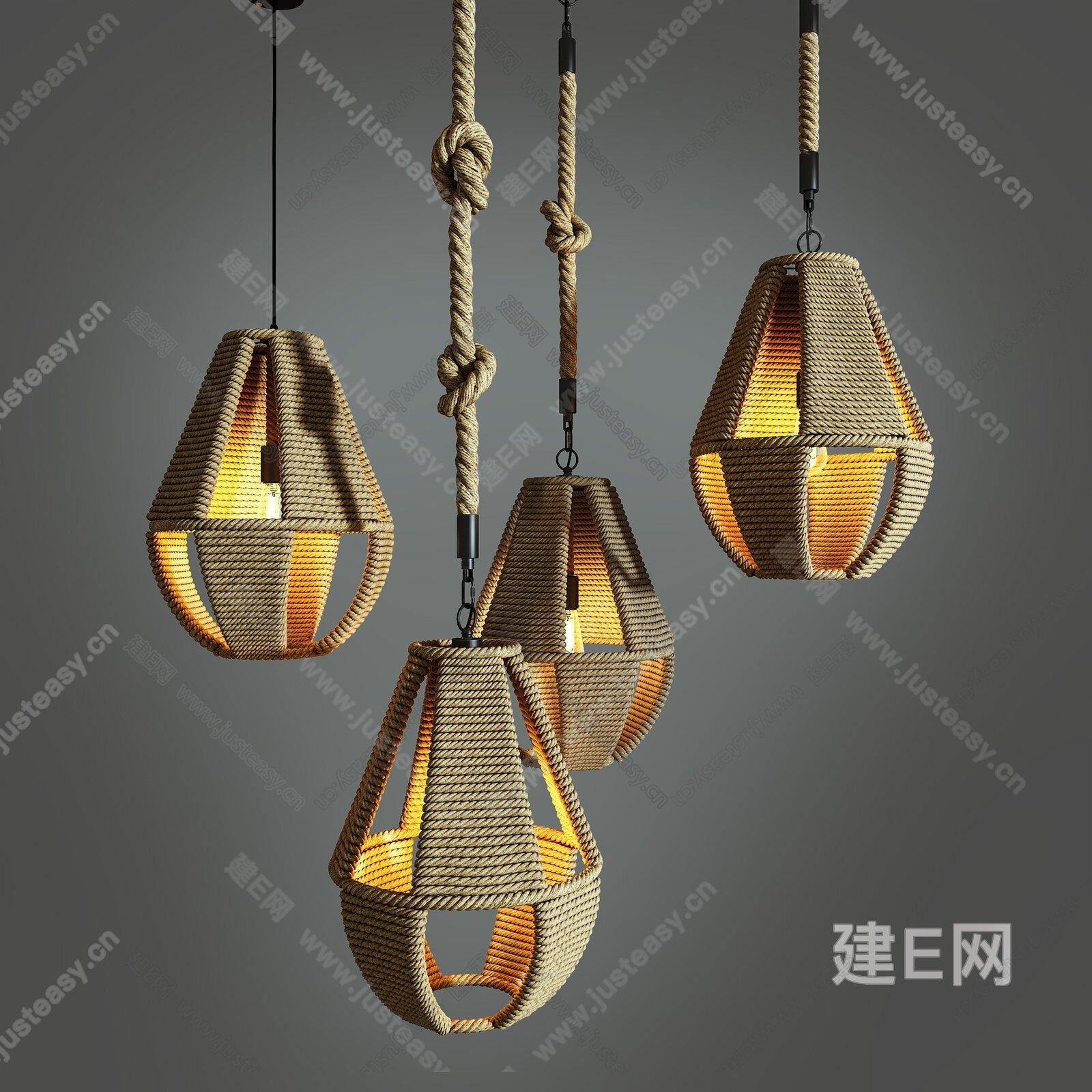 工业风吊灯[模型id:187242]