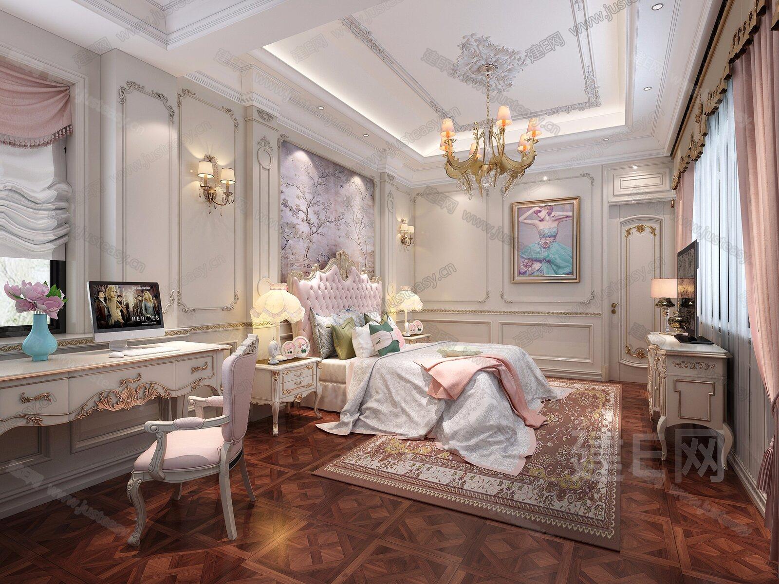 欧式古典女儿房[模型id:220153]