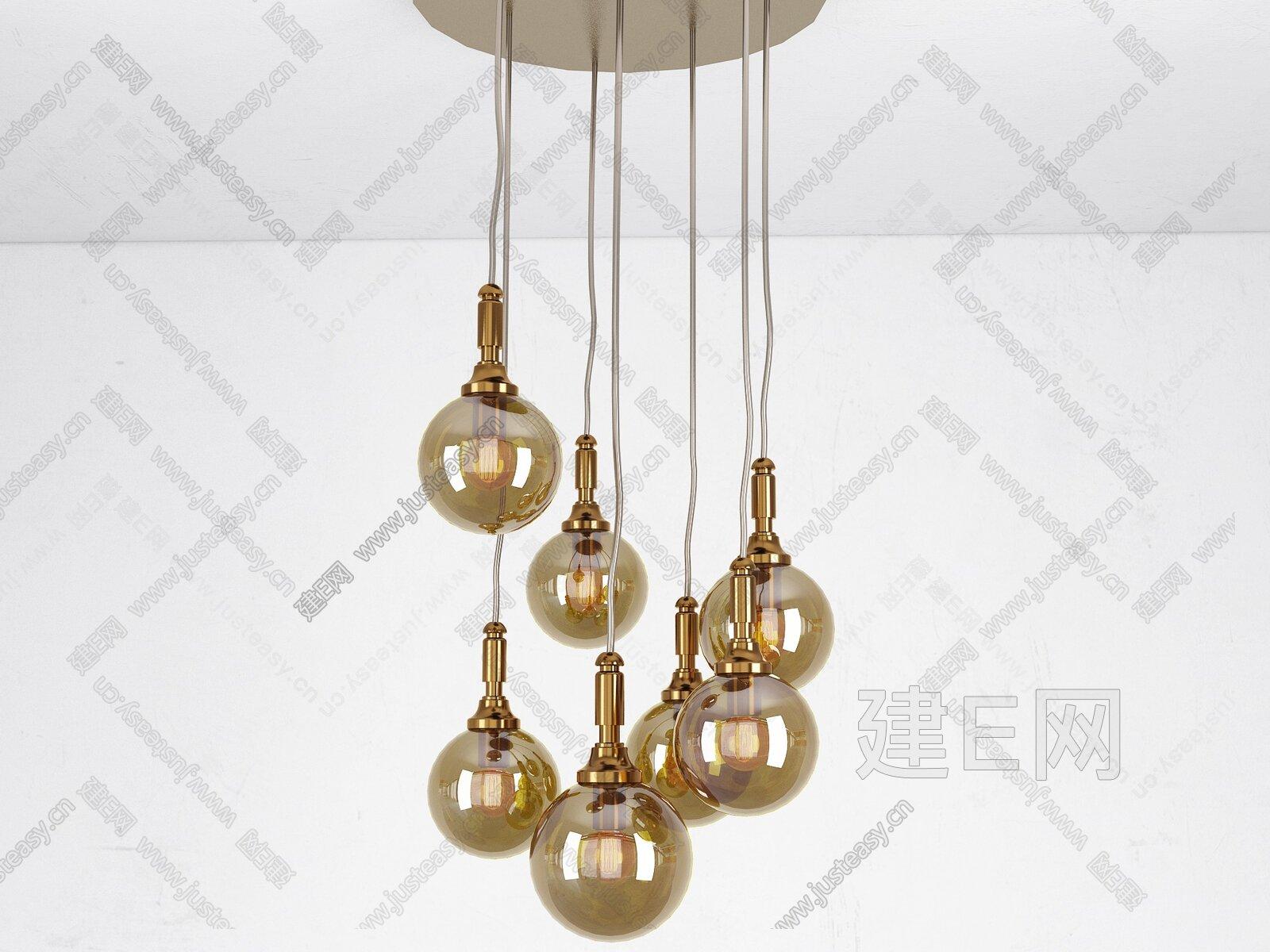 工业风吊灯[模型id:263573]