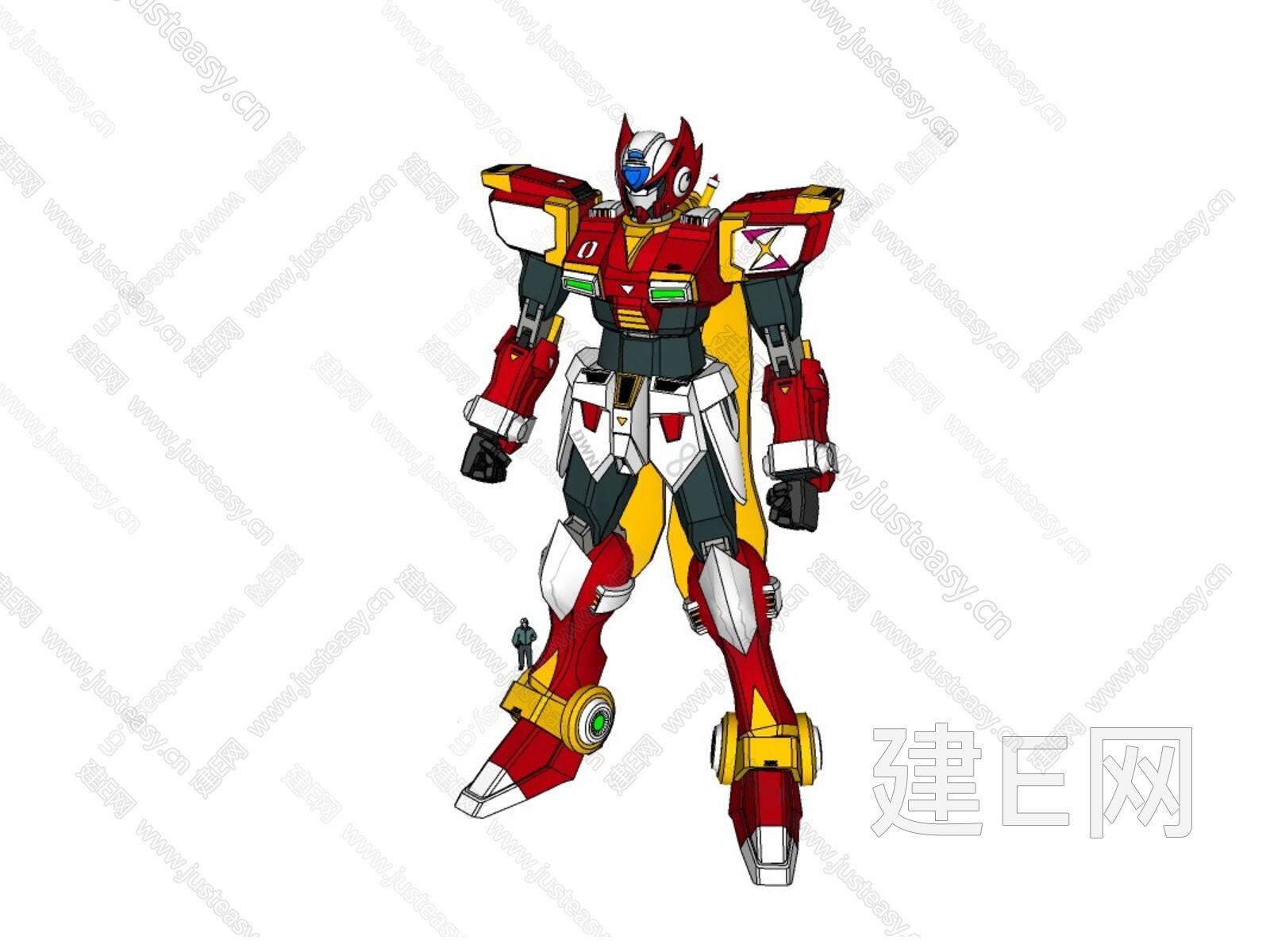 su模型首页 景观 人物动物 动漫高达敢达铠甲勇士机器人[模型id:2368]