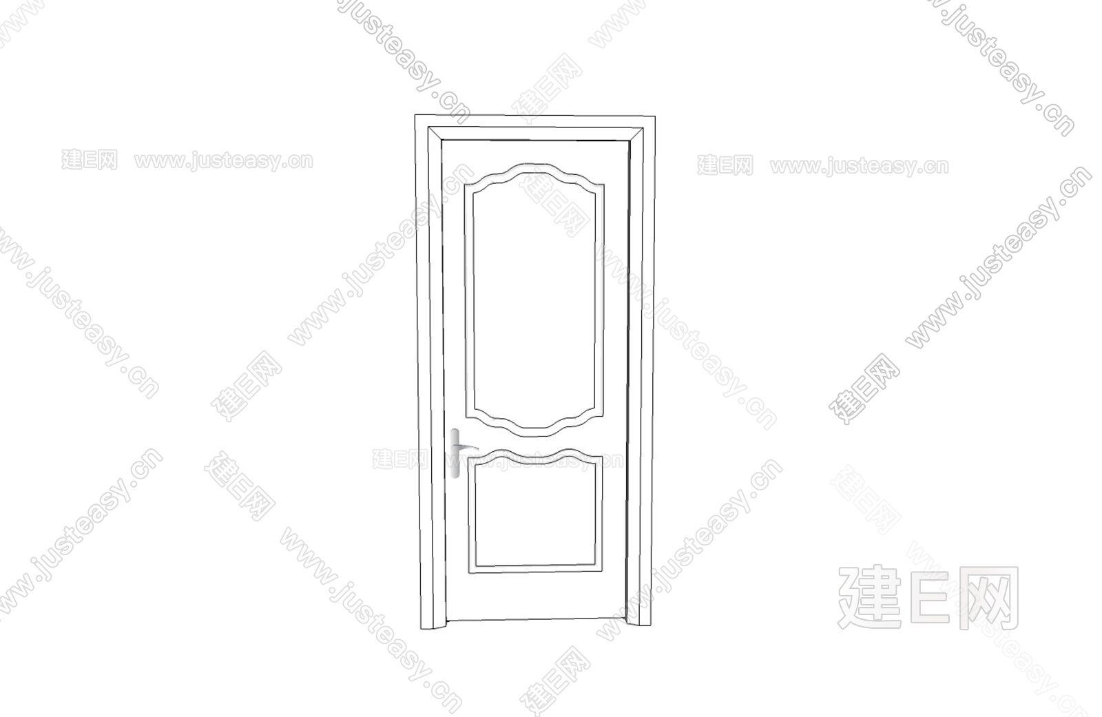 門怎么畫簡筆畫