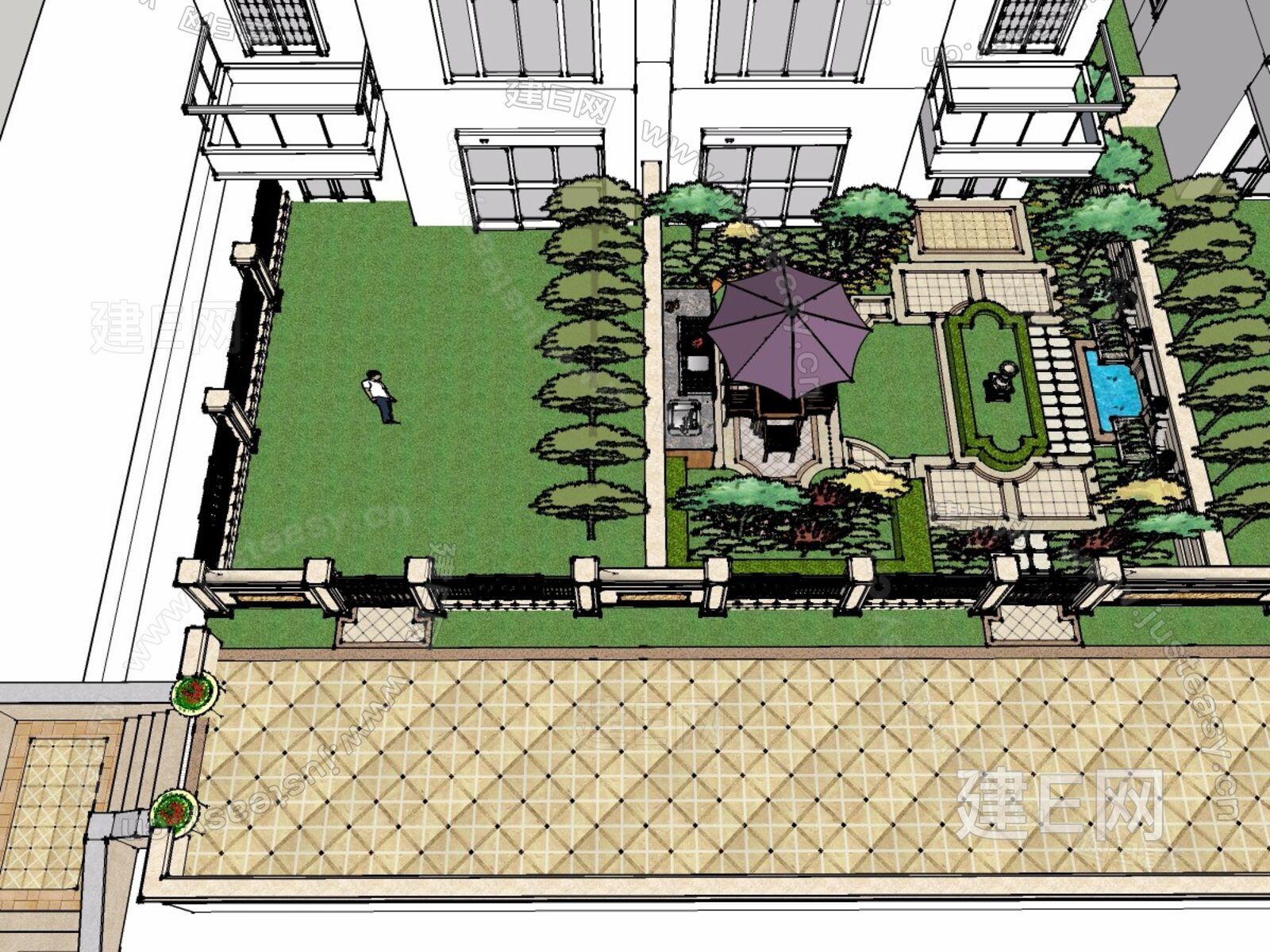 su模型首页 景观 住宅景观 庭院景观[模型id:4934]