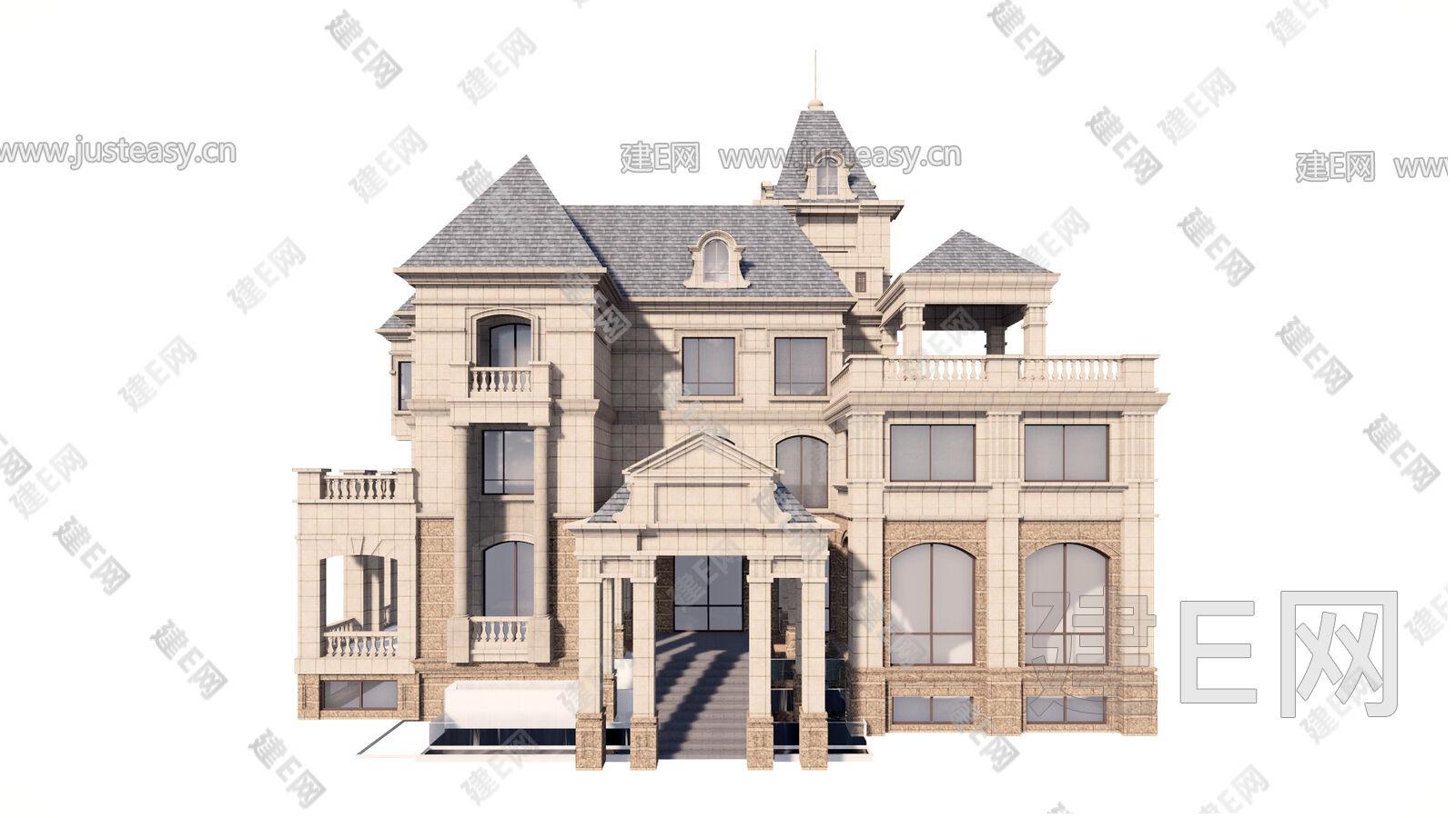 法式别墅[模型id:21377]