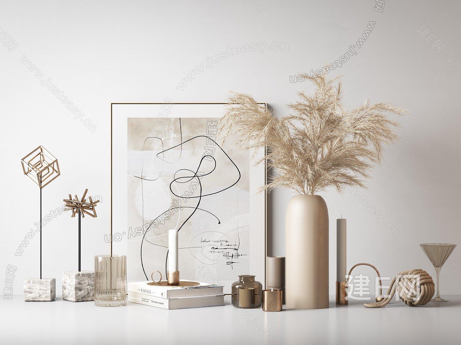現代飾品擺件3d模型