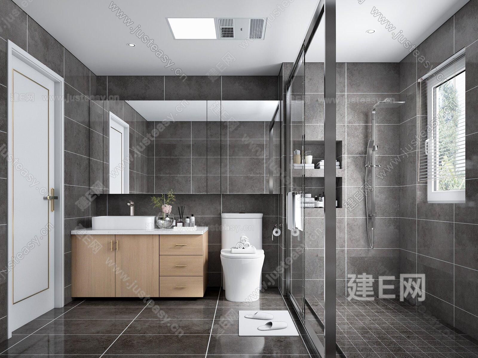 現代衛生間3d模型