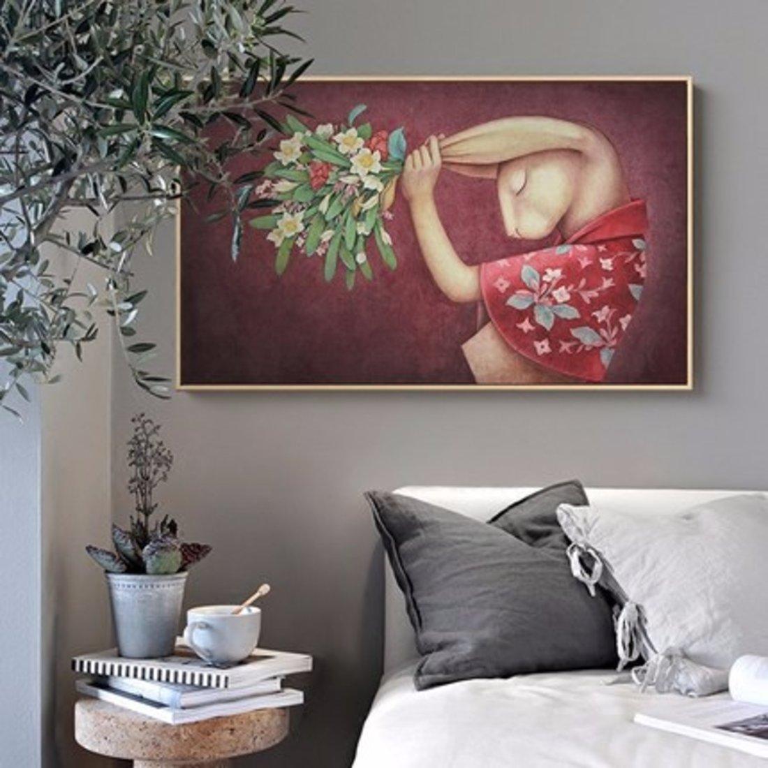 卧室装饰画客厅餐厅挂画单幅床头画Alice Lin