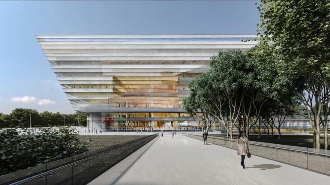 上海图书馆东馆会长这样,不过 2020 年才能建成