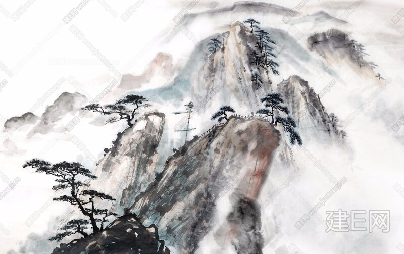 新中式壁画【贴图id:99043】