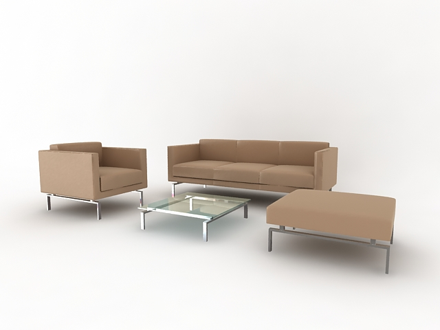 沙发模型63d模型下载[id:2085]