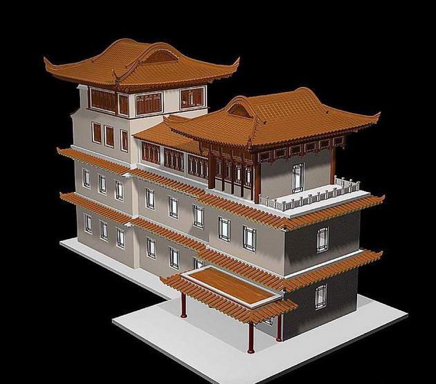 中国古建筑3d模型3d模型下载[id:2791]