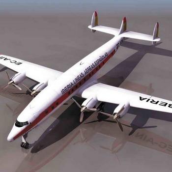 航空客机模型3d模型下载[id:3330]