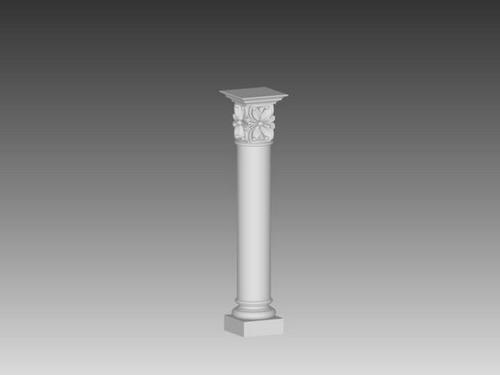 3d欧式柱子模型图片