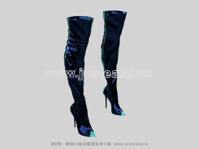 女式长靴子3d模型下载