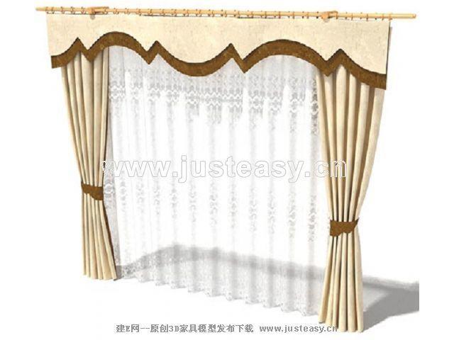 dmax窗帘模型下载_