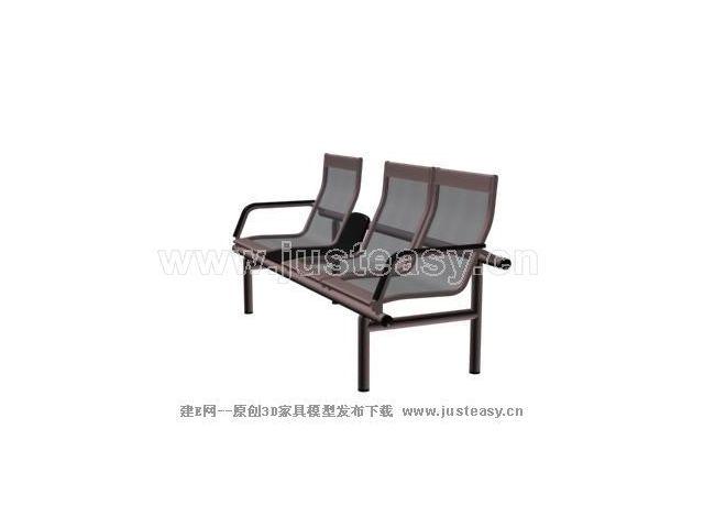 公共座椅模型 查看原图