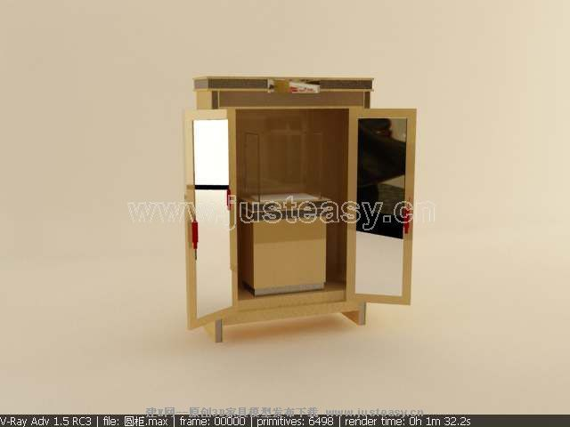 珠宝柜台模型3d模型下载[id:9436]