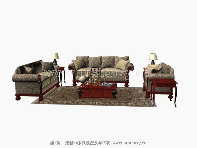 沙发模型 查看原图