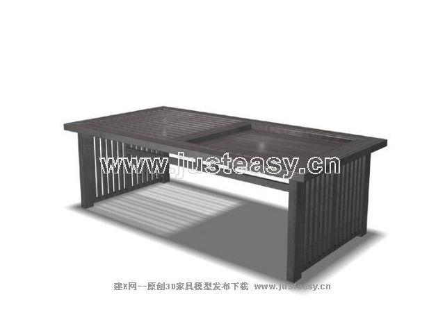 中式茶几3d模型免费下载_建e模型网_建e网_室内设计
