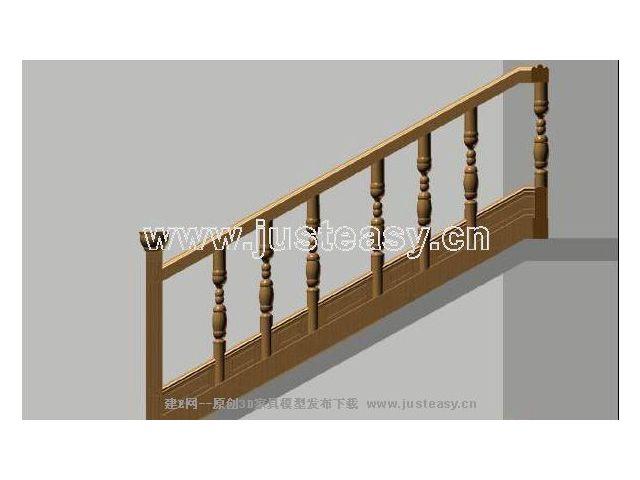 楼梯栏杆3d模型下载[id:13376]