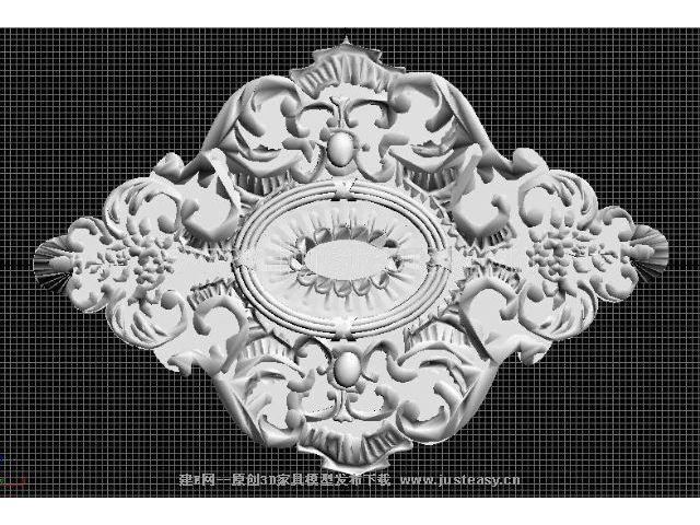 gaudi品牌天花板灯具底座513d模型下载[id:13457]